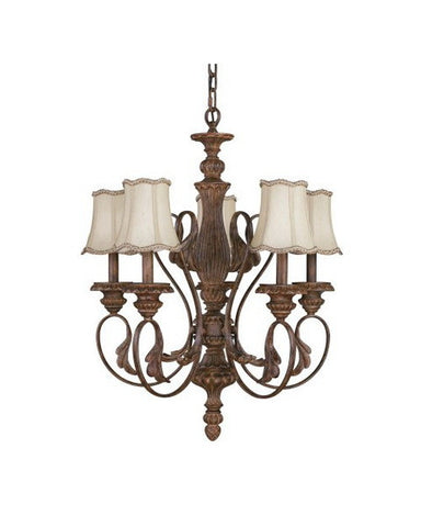 Kichler Lighting 2336 WSG Chaucey Collection Five Light Hanging Chandelier in Weathered Sage Finish - Quality Discount Lighting