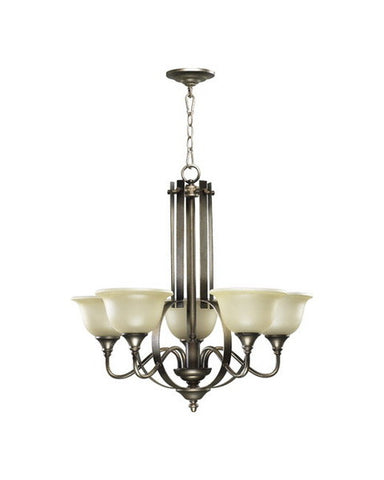 Quorum International 6011-5-22 Avondale Collection Chandelier in Flemish Finish - Quality Discount Lighting