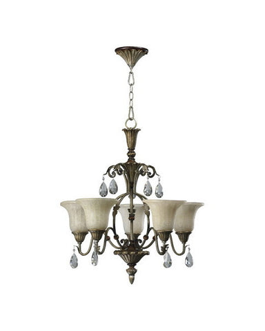 Quorum International 6003-5-22 Laurette Collection Chandelier in Antique Flemish Finish - Quality Discount Lighting