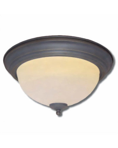 Epiphany Lighting ESCM541-26 ORB Two Light Energy Saving Fluorescent Flush Mount in Oil Rubbed Bronze Finish - Quality Discount Lighting