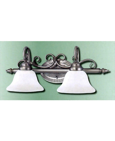 Epiphany Lighting 103680 SL Two Light Bath Wall Light in Painted Silver Finish