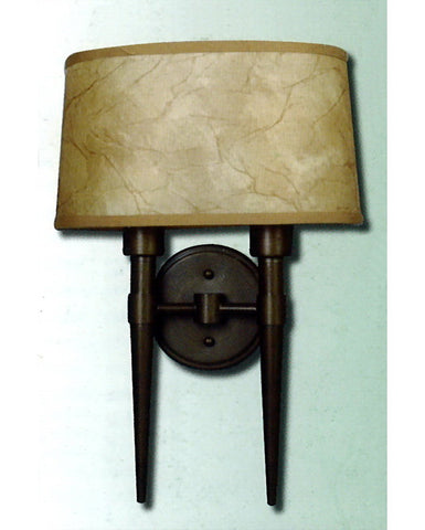 Epiphany Lighting 103456 ORB TCC Two Light Wall Sconce in Oil Rubbed Bronze Finish