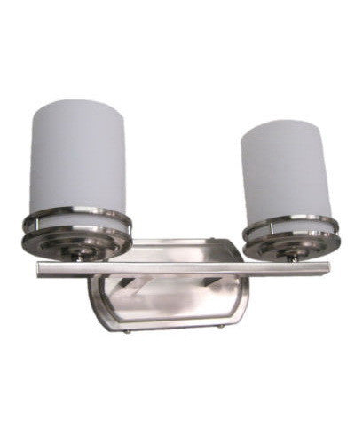 Epiphany 5077 BN Two Light Bath Wall Fixture in Brushed Nickel Finish - Quality Discount Lighting