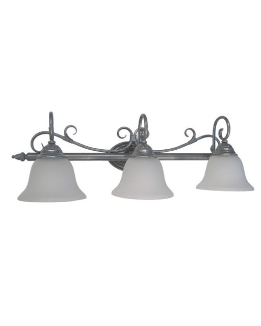 Epiphany Lighting 103682 SL Three Light Bath Wall Light in Painted Silver Finish