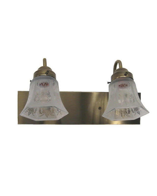 Angelo Lighting 66537 AB - MA2150 Two Light Bath Vanity Wall Mount in Antique Brass Finish
