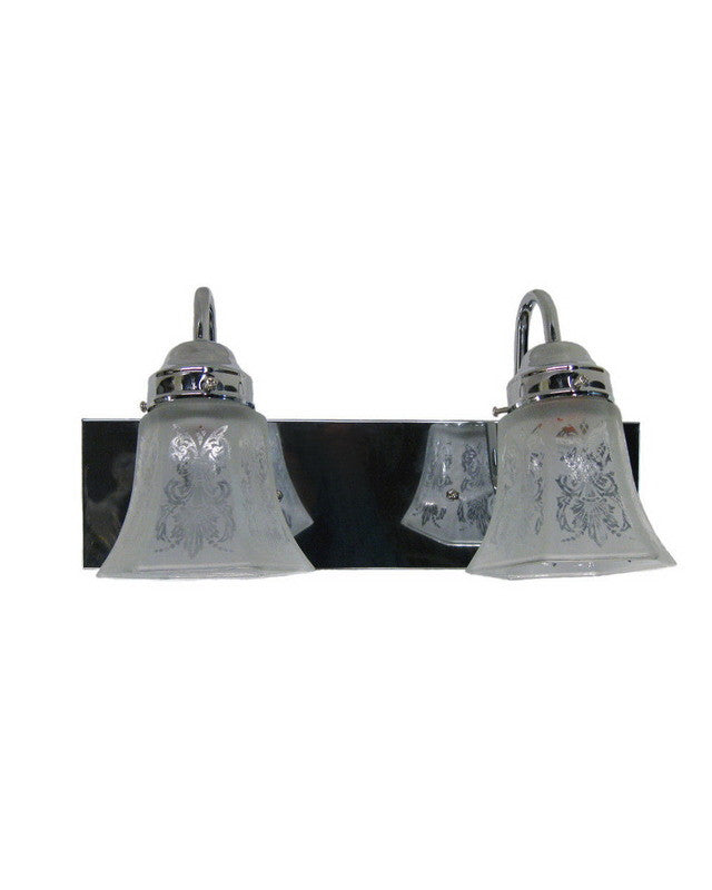 Angelo Lighting 66533 CH - MA2150 Two Light Bath Vanity Wall Mount in Polished Chrome Finish