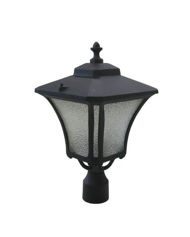 RAZR GM212SDBZS One Light Exterior Outdoor Post Lantern in Black Finish