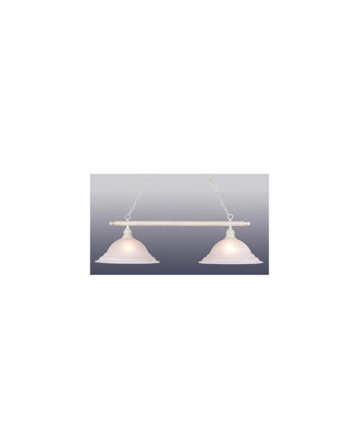 Vaxcel Lighting PD5391 SW Two Light Island Hanging Chandelier in Stone White Finish - Quality Discount Lighting