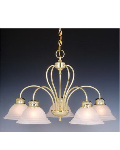 Vaxcel Lighting CH6568 P Five Light Chandelier in Polished Brass Finish - Quality Discount Lighting