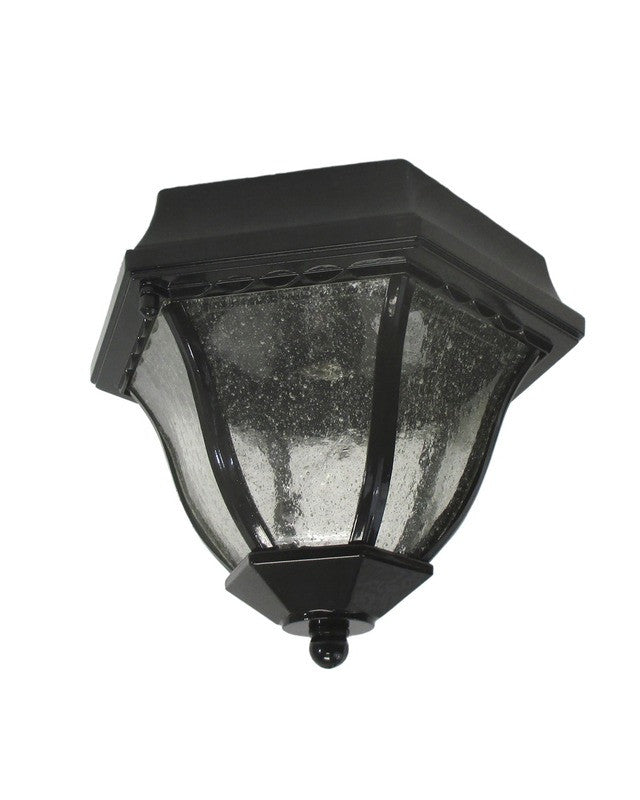 Epiphany Lighting 104894 BK One Light Outdoor Exterior Flush Ceiling Mount  In Black Finish