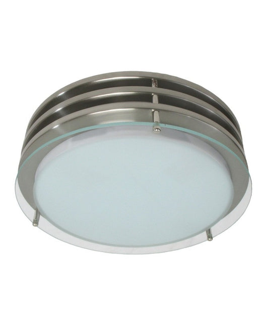 "Epiphany Lighting 104752 BN 14"" Round Energy Saving Fluorescent Flush Ceiling Mount in Stainless Steel Finish"