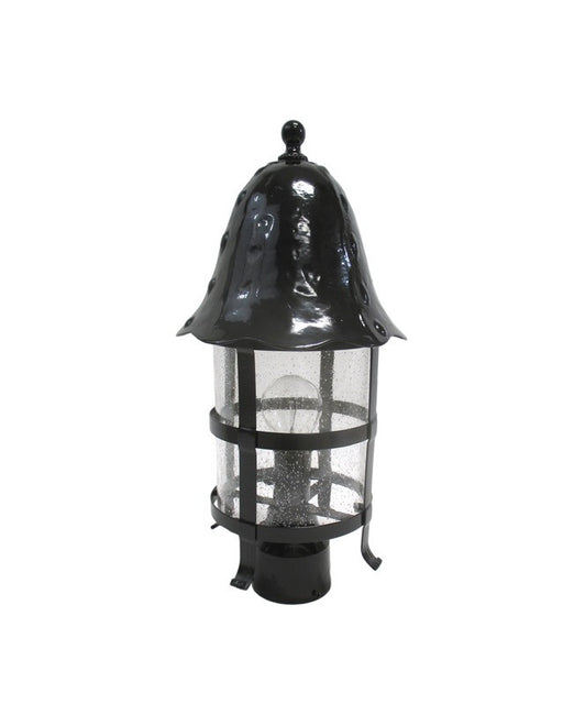 Epiphany Lighting 104873 BK One Light Cast Aluminum Outdoor Exterior Post Mount in Black Finish with Clear Seeded Glass