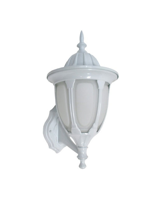Epiphany Lighting 104932 WH One Light Cast Aluminum Outdoor Exterior Wall Mount in White Finish