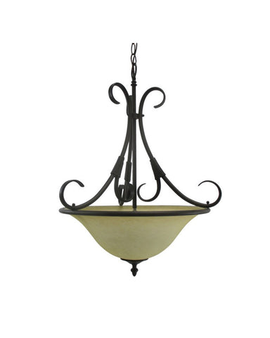 Epiphany Lighting 102606 ORB Three Light Pendant Chandelier in Oil Rubbed Bronze Finish - Quality Discount Lighting