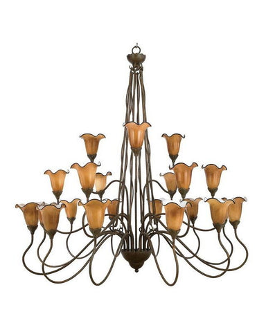 Quoizel Lighting PLX5021MT01 Twenty One Light Three Tier Hanging Chandelier in Mediterranean Patina Finish - Quality Discount Lighting