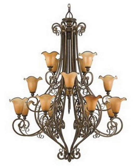 Quoizel Lighting FS5016 ML Sixteen Light Hanging Chandelier in Malaga Finish - Quality Discount Lighting
