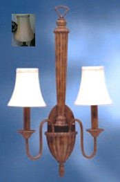 Kichler Lighting 6014 HZL Esperance Collection Two Light Wall Sconce in Hazelnut Finish - Quality Discount Lighting