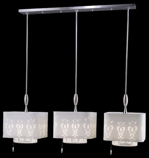 Stylicon by Thomas Lighting AC2703-PSN Clair de Lune Collection 3 Light Island Light in Satin Nickel Finish - Quality Discount Lighting