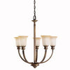 Kichler Lighting 2037 VNB Stanton Park Collection Five Light Chandelier in Vintage Natural Brass Finish - Quality Discount Lighting