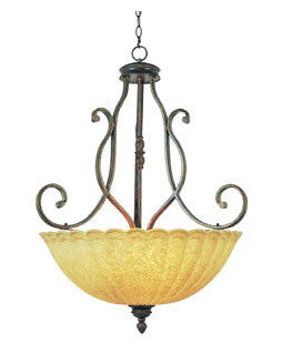 Trans Globe Lighting 2223 BRG Tuscan Bowl Pendant Chandelier in Burnished Gold Finish - Quality Discount Lighting