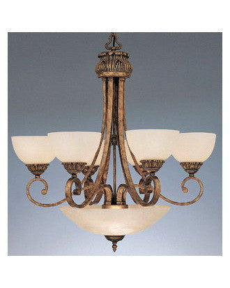 Designers Fountain Lighting 5789 EG Nine Light Villa D'Este Chandelier in European Gold Finish - Quality Discount Lighting