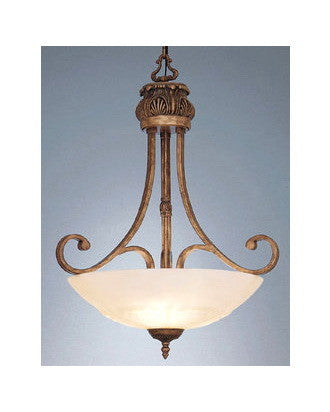 Designers Fountain Lighting 5783 EG Three Light Villa D'Este Bowl Pendant Chandelier in European Gold Finish - Quality Discount Lighting