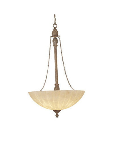 Designers Fountain Lighting 4975-RG Raphael Collection 4 Light Bowl Pendant Chandelier in Renaissance Gold Finish - Quality Discount Lighting