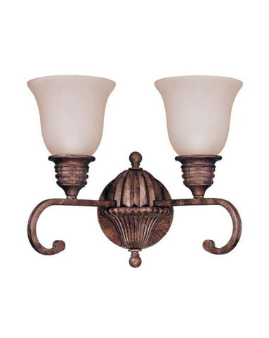 Nuvo Lighting 60-1611 Belvedere Collection 2 Light Bath Wall Fixture in Crackled Bullion Finish - Quality Discount Lighting