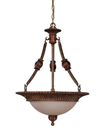 Nuvo Lighting 60-1607 Belvedere Collection 3 Light Pendant Chandelier in Crackled Bullion Finish - Quality Discount Lighting