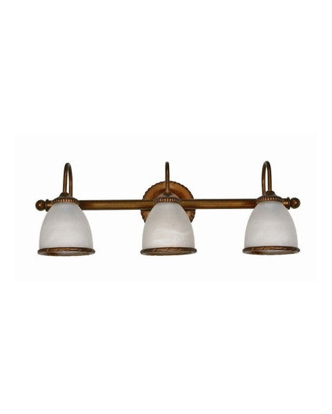 Nuvo Lighting 60-033 Tet-A-Tet Collection 3 Light Bath Vanity Wall Mount in Old Gold Finish - Quality Discount Lighting