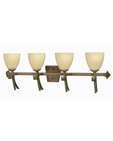 Nuvo Lighting 60-093 Excalibur Collection 4 Light Bath Vanity Wall Fixture in Real Rust Finish - Quality Discount Lighting
