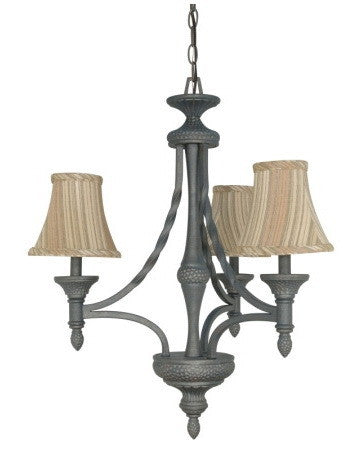 Nuvo Lighting 60-1052 Nottingham Collection 3 Light Chandelier in Purnice Stone Finish - Quality Discount Lighting