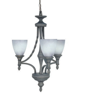 Nuvo Lighting 60-1054 Nottingham Collection 3 Light Chandelier in Purnice Stone Finish - Quality Discount Lighting