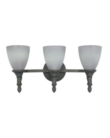 Nuvo Lighting 60-1061 Nottingham Collection 3 Light Bath Vanity Wall Mount in Purnice Stone Finish - Quality Discount Lighting