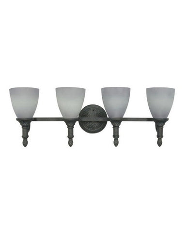 Nuvo Lighting 60-1062 Nottingham Collection 4 Light Bath Vanity Wall Mount in Purnice Stone Finish - Quality Discount Lighting
