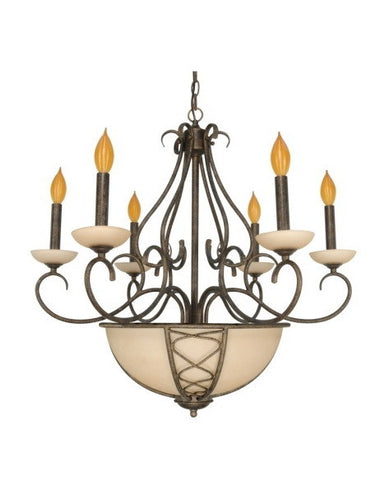 Nuvo Lighting 60-1122 Chelsea Collection 8 Light Chandelier in Sahara Finish - Quality Discount Lighting