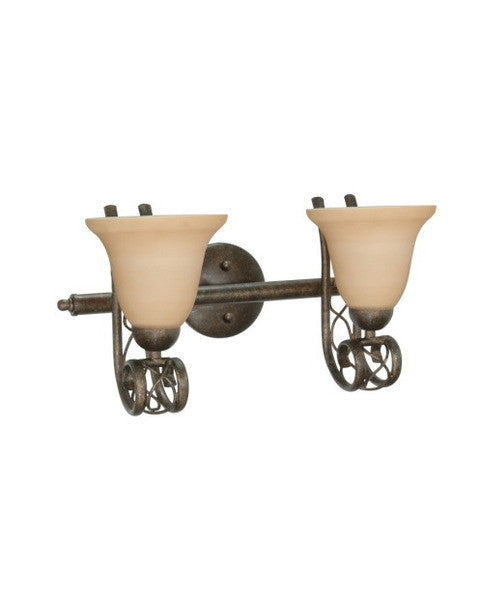 Nuvo Lighting 60-1128 Chelsea Collection 2 Light Bath Vanity Wall Mount in Sahara Finish - Quality Discount Lighting