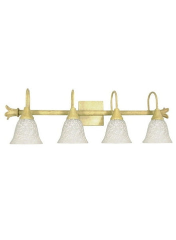 Nuvo Lighting 60-125 Tropica Collection 4 Light Bath Vanity Wall Mount in Aged Beige Finish - Quality Discount Lighting