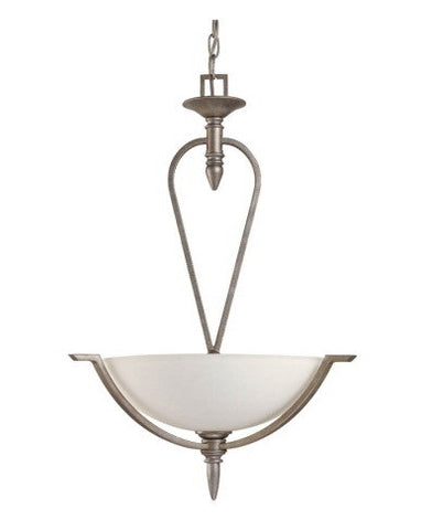 Nuvo Lighting 60-1468 Coventry Collection 3 Light Pendant Chandelier in Classic Pewter Finish - Quality Discount Lighting