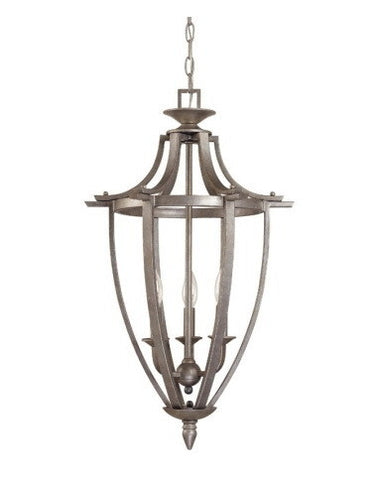 Nuvo Lighting 60-1469 Coventry Collection 3 Light Caged Pendant Chandelier in Classic Pewter Finish - Quality Discount Lighting