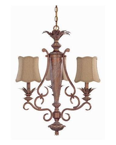 Nuvo Lighting 60-1481 Island Clay Collection 3 Light Chandelier in Coral Reef Finish - Quality Discount Lighting