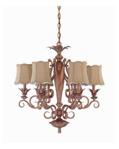 Nuvo Lighting 60-1482 Island Clay Collection 6 Light Chandelier in Coral Reef Finish - Quality Discount Lighting