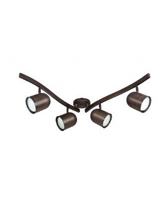 RBTK381 Four Light CFL R-30 Bullet Swivel Track Kit in Russet Bronze Finish