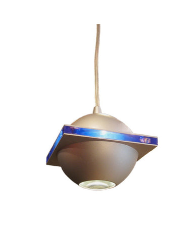 Access Lighting 62090 BS BLU Orb Collection Contemporary Mini Pendant Light in Brushed Steel Finish - Quality Discount Lighting