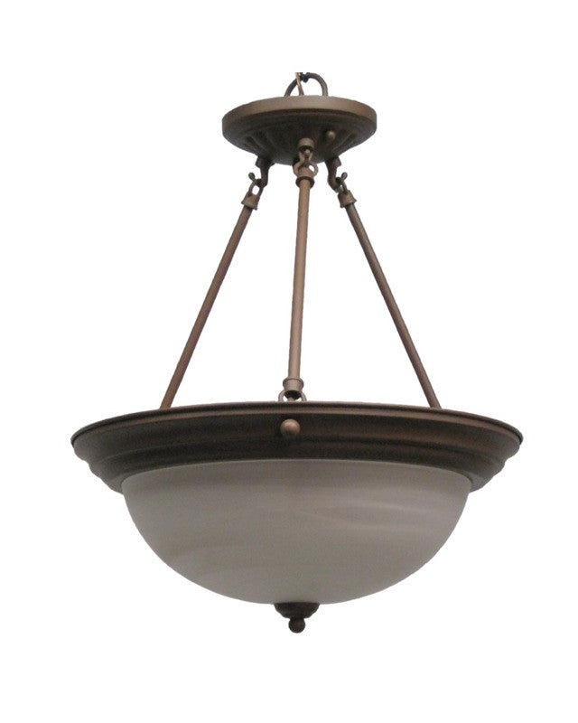 Epiphany Lighting 102100 CS Three Light Duo Mount Pendant Chandelier Or  Semi Flush Ceiling In Cobblestone