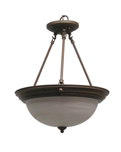 Epiphany Lighting 102100 CS Three Light Duo Mount Pendant Chandelier or Semi Flush Ceiling in Cobblestone Finish - Quality Discount Lighting