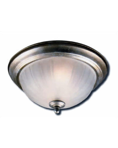 Epiphany Lighting GU104322 BN-39 Three Light Energy Efficient Fluorescent Flush Ceiling Fixture in Brushed Nickel Finish