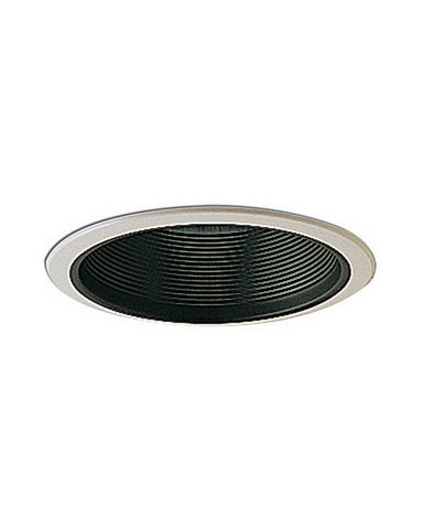 Epiphany 400108 BK Set of 12 Six Inch Black Baffle Recessed Can Trims that Works with HALO - Quality Discount Lighting