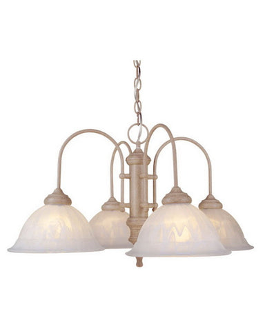 Vaxcel Lighting CH26104 NS Four Light Chandelier in Noachian Stone Finish - Quality Discount Lighting