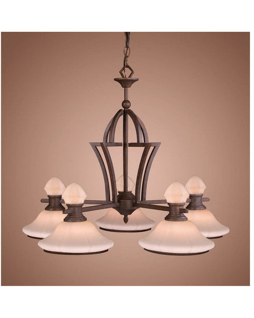 Vaxcel Lighting CH29205 WP Five Light Chandelier in Weathered Patina Finish - Quality Discount Lighting